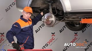 How to change Brake Drum PEUGEOT 207 Saloon - step-by-step video manual