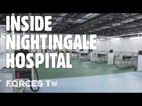 NHS Nightingale: Inside London's Temporary Field Hospital | Forces TV