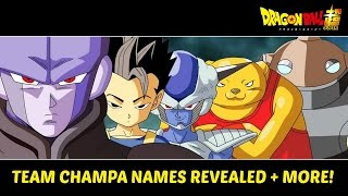 Dragon Ball Super Thoughts - Team Champa Names Revealed & New Room of Spirit & Time Discussion