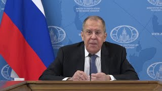 Глава МИД РФ Сергей Лавров дал пресс-конференцию по итогам минувшего года.