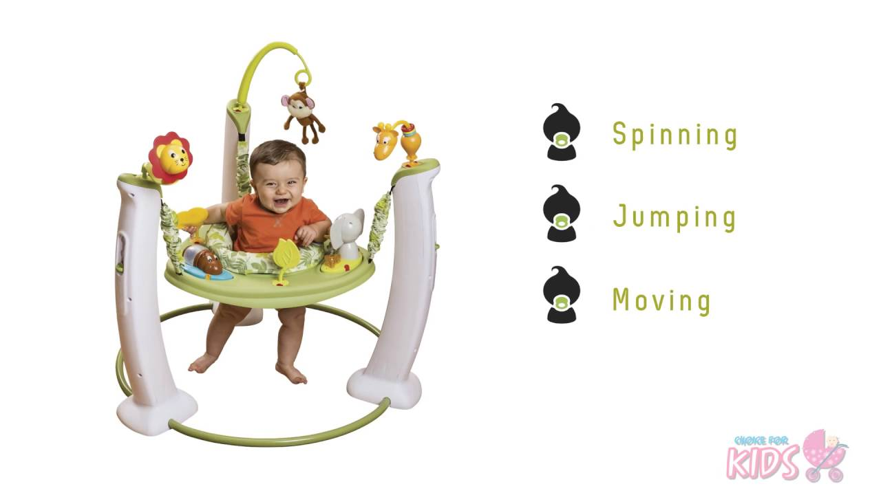 b270654a1 Evenflo ExerSaucer Jump and Learn - Jungle quest stationary jumper ...