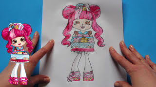 "How to Draw Shopkins Shoppies Dolls ""Donatina"" Step By Step 