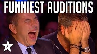 TOP 10 FUNNIEST Auditions And Moments EVER On Britain