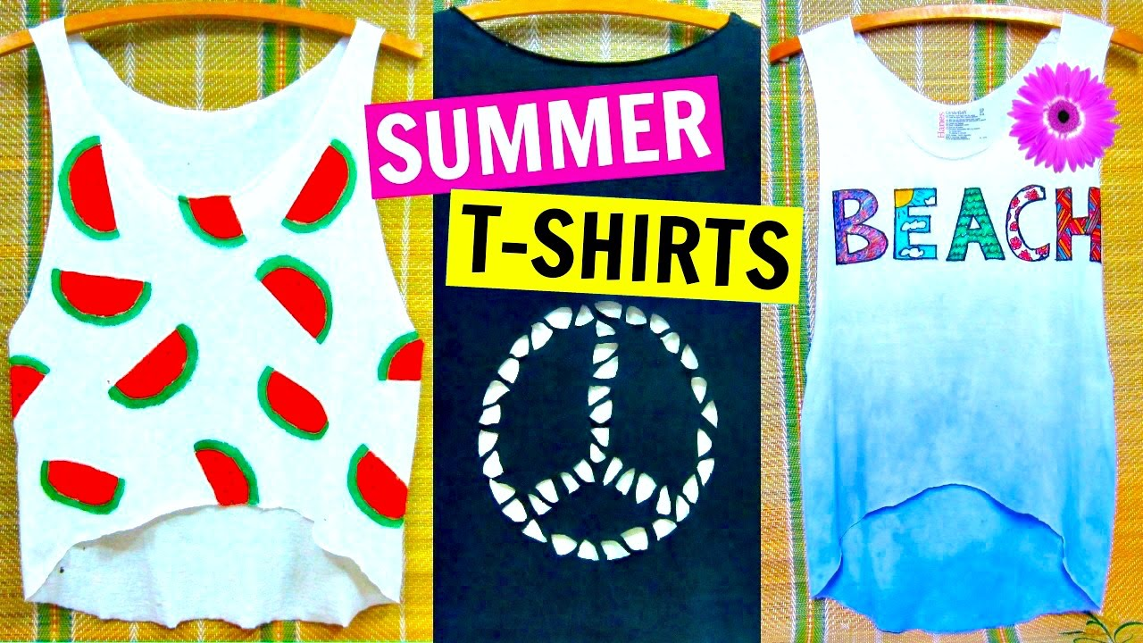 Diy Clothes Easy No Sew T Shirt Ideas Inspired By Tumblr Youtube