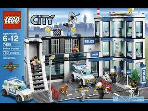 Lego City Police Station Set 7498 Review Youtube