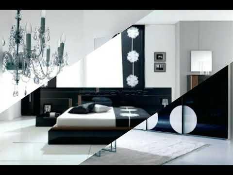 Chambre a coucher moderne noir et blanc - YouTube