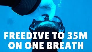 Freediving To 35m On One Breath || Amed, Bali