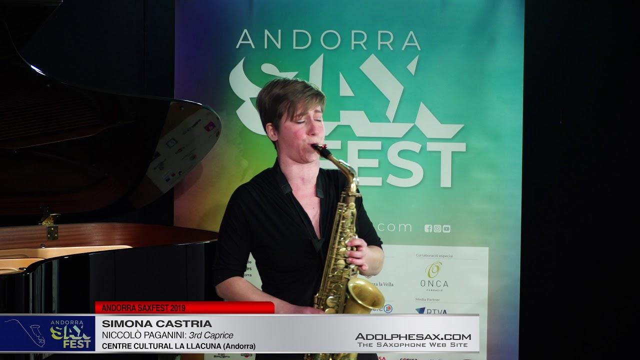 Andorra SaxFest 2019 1st Round   Simona Castria   3rd Caprice by Niccolo Paganini