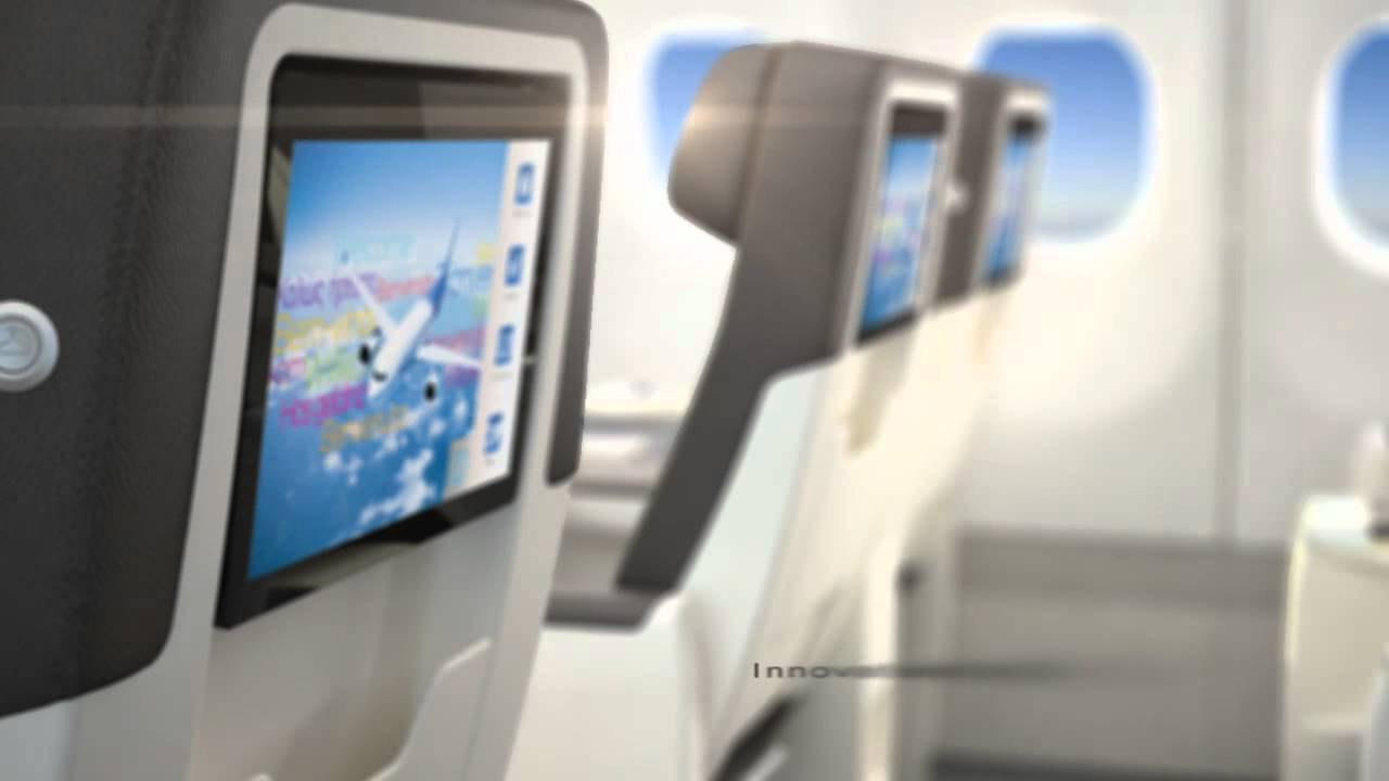 Discover air transat 39 s new cabin youtube for Interieur avion air canada