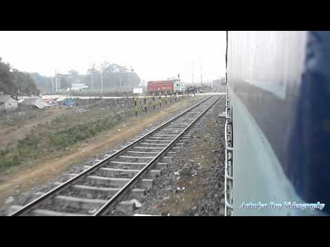 Arriving at New Jalpaiguri : Sealdah New Cooch Behar Uttarbanga Express