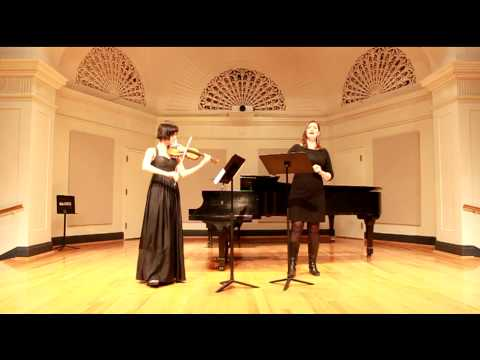"""Nunc music: Wuorinen """"Visible"""" for voice and violin"""