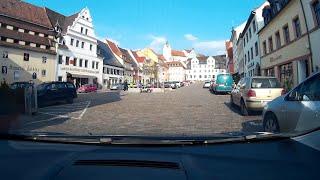 Von Colditz Markt zum Colditzer Waldbad mit dem Auto