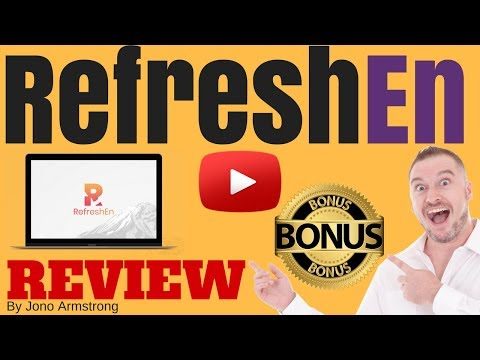 Refreshen Review, [WARNING] DON'T BUY REFRESHEN WITHOUT MY **CUSTOM** BONUSES!!