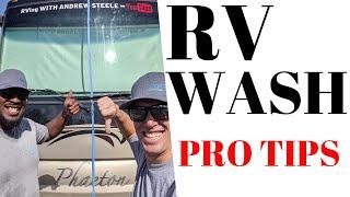 PRO RV WASH PROCESS VS. OPTIMUM NO RINSE WASH COMPARISON