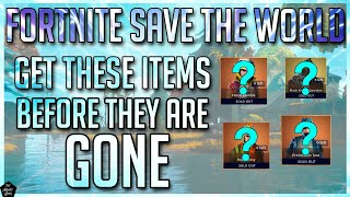 FORTNITE STW: GET THESE EVENT ITEMS BEFORE THEYRE GONE! SEASON 9 EVENT ITEM SHOP REVIEW!