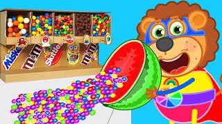 Lion Family Max Make Fruit Candy | Cartoon for Kids