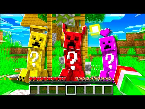I Punched A LUCKY Creeper In Minecraft...