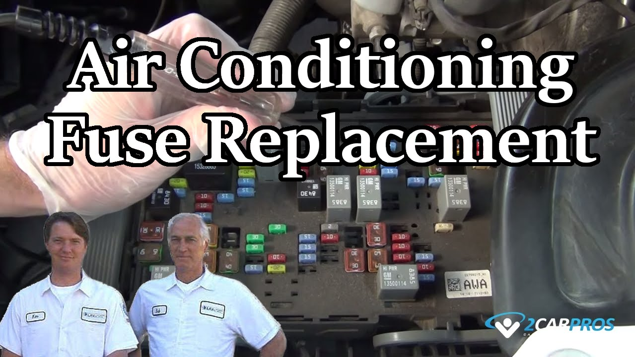 Air Conditioning Fuse Replacement Youtube 1998 Ford Contour Box Layout