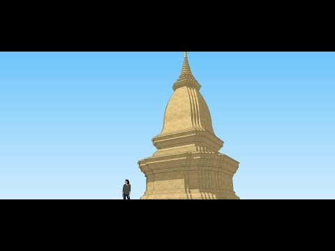 How to make the Thai Pagoda recess with Google sketchup.