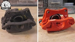 Rusty BMW E30 325i Brake Caliper Restoration