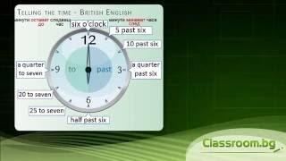 Часовете на британски английски - British Time