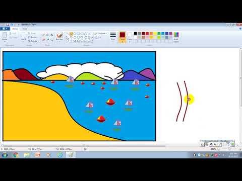 luyện tập tin học lớp 4 bài 3 vẽ cảnh biển quê em