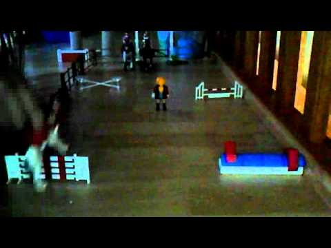 Schleich cours de saut d 39 obstacle youtube - Frison saut d obstacle ...