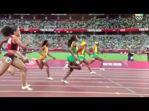 Elaine Thompson-Herah Sets World Record, Jamaican Women Win Tokyo Olympics 100 M 1,2,3