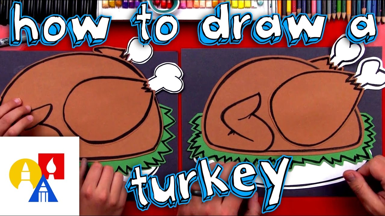 how to draw a cooked turkey cutout youtube