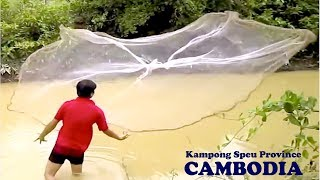 net fishing at kampong speu province cambodia part 02   khmer net fishing 2014