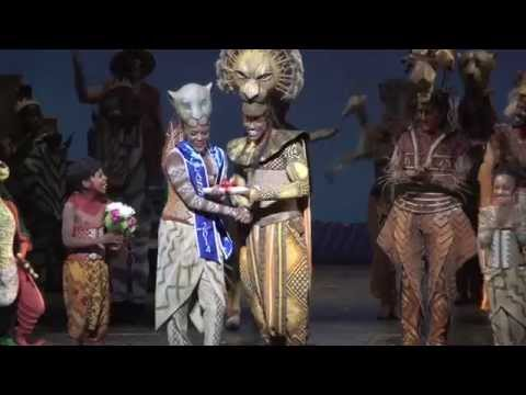 Emotional Onstage Surprise for Cast Member from THE LION KING