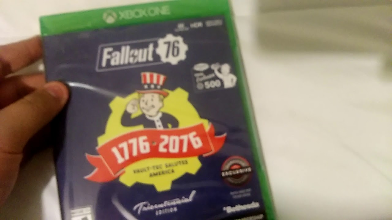 fallout 76 tricentennial edition unboxing