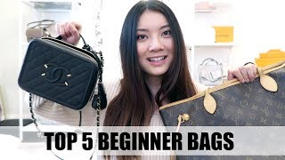 TOP 5 MUST HAVE BEGINNER DESIGNER BAGS | Investment Bags | Bags to start a Designer Collection