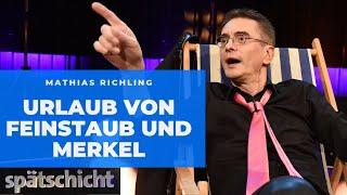 Weg von Merkel und Feinstaub: Mathias Richling auf dem Weg in den Sommerurlaub