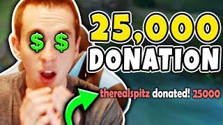 WTF! I GOT A 25,000 DONATION!? MY FANS ARE INSANE! Bronze V to Diamond #3 - League of Legends