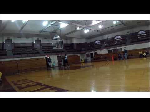 Athletic Je'Mal Jones dominates scrimmage at Brooklyn College Academy high school