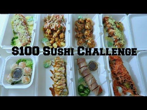 $100 Sushi Food Challenge