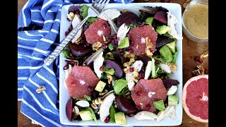 Salad Recipe: HEALTHY Grapefruit, Beet & Chicken Salad by Everyday Gourmet with Blakely