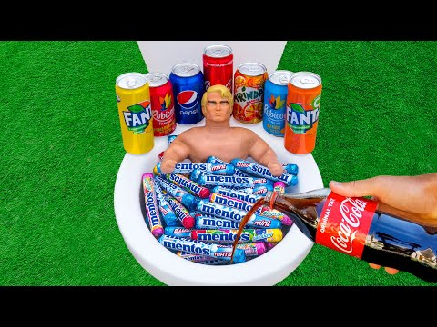 EXPERIMENT : Stretch Armstrong vs Coca-Cola In Toilet