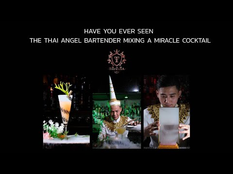 Have you ever seen the Thai Angel Bartender Mixing a Miracle Crafted Cocktail with Thai Presentation