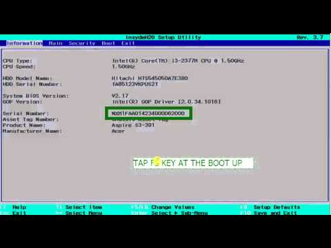 How to Find Your Serial Number in the BIOS