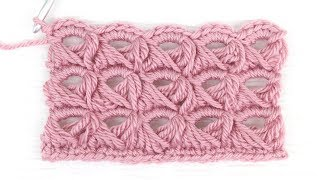 Broomstick Lace Crochet Stitch Tutorial