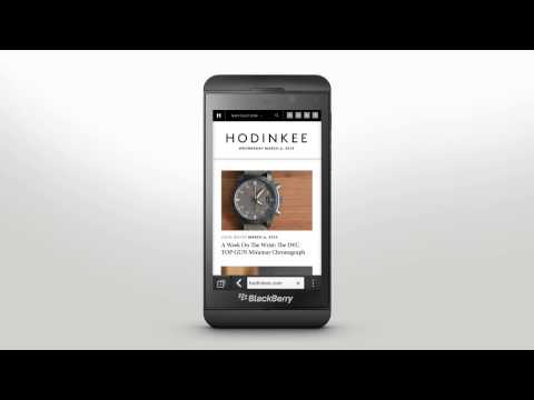 Browser Basics: BlackBerry Z10 - Official How To Demo