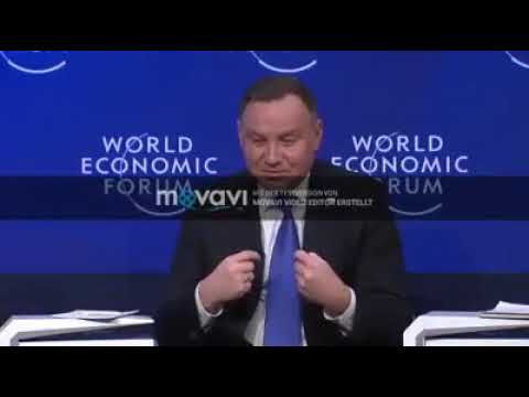 Kompromitacja Dudy W Davos Polish President Made A Fool Of Himself By Speaking English Youtube
