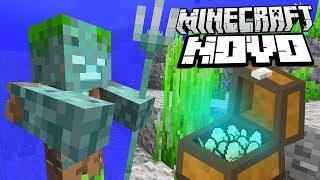 NOVO MONSTRO NO MINECRAFT!!! NAUFRÁGIOS E TESOURO PIRATA!!!   Minecraft 1.13 (18w11a)