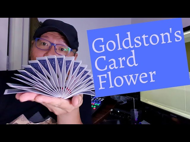 Card Flourish - Goldston's Card Flower