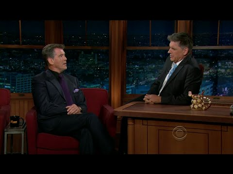 Late Late Show with Craig Ferguson 12/8/2011 Pierce Brosnan, Laura Lippman