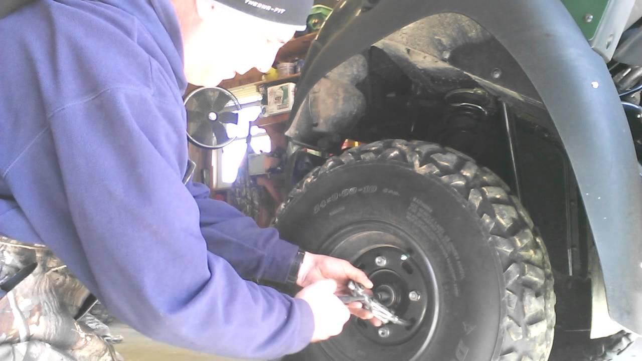 Brake hub removal on kawasaki mule 610  YouTube