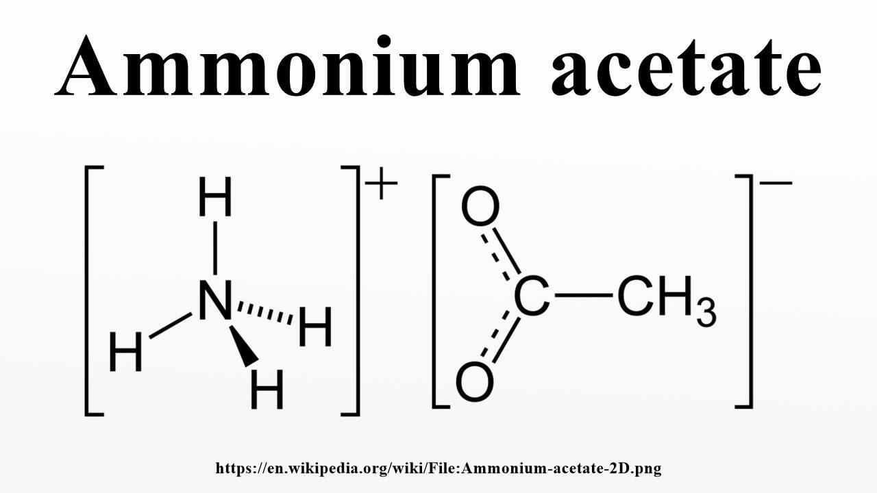 Ammonium Acetate Youtube