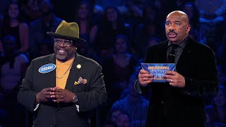 Cedric the Entertainer and Max Greenfield Play Fast Money - Celebrity Family Feud